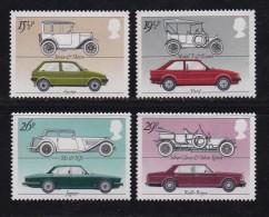 UK, 1982, Mint  Hinged Stamps, British Motor Cars, 929-932, #14489 - 1952-.... (Elizabeth II)