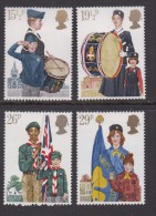 UK, 1982, Mint  Hinged Stamps, Youth Organizations, 910-913, #14488 - 1952-.... (Elizabeth II)