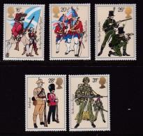 UK, 1983, Mint  Hinged Stamps, British Army Uniforms, 956-960, #14493 - 1952-.... (Elizabeth II)