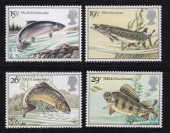 UK, 1983, Mint  Hinged Stamps, British River Fishes, 938-941, #14490 - 1952-.... (Elizabeth II)
