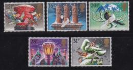 UK, 1983, Mint  Hinged Stamps, Christmas, 970-974, #14496 - 1952-.... (Elizabeth II)