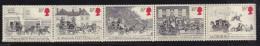 UK, 1984, Mint  Hinged Stamps In Strip, First Mail Coach Run, 997-1001, #14503 - 1952-.... (Elizabeth II)