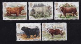 UK, 1984, Mint  Hinged Stamps, British Cattle, 979-983, #14498 - 1952-.... (Elizabeth II)