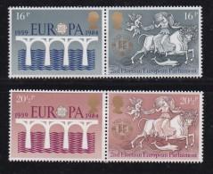 UK, 1984, Mint  Hinged Stamps, EUROPA Elections, 988-991, #14499 - 1952-.... (Elizabeth II)