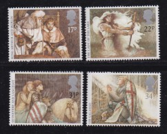 UK, 1985, Mint  Hinged Stamps, Arthurian Legends, 1039-1042, #14511 - 1952-.... (Elizabeth II)