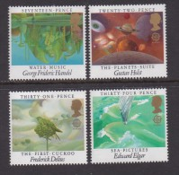 UK, 1985, Mint  Hinged Stamps, EUROPA Music Year, 1027-1030, #14508 - 1952-.... (Elizabeth II)