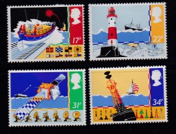 UK, 1985, Mint  Hinged Stamps, Safety At Sea, 1031-1034, #14509 - 1952-.... (Elizabeth II)