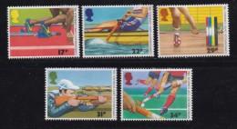 UK, 1986, Mint  Hinged Stamps, Commonwealth Games, 1076-1080, #14519 - 1952-.... (Elizabeth II)