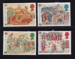 UK, 1986, Mint  Hinged Stamps, Domesday Book, 1072-1075, #14518 - 1952-.... (Elizabeth II)