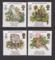 UK, 1986, Mint  Hinged Stamps, EUROPA Nature Conservation, 1068-1071, #14517 - 1952-.... (Elizabeth II)
