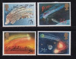 UK, 1986, Mint  Hinged Stamps, Halley's Comet, 1060-1063, #14515 - 1952-.... (Elizabeth II)