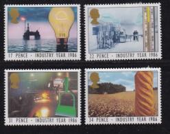 UK, 1986, Mint  Hinged Stamps, Industry Year, 1056-1059, #14514 - 1952-.... (Elizabeth II)