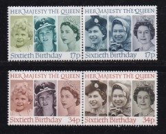 UK, 1986, Mint  Hinged Stamps, QE II 60th Birthday, 1064-1067, #14516 - 1952-.... (Elizabeth II)