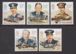 UK, 1986, Mint  Hinged Stamps, Royal Air Force, 1085-1089 #14522 - 1952-.... (Elizabeth II)