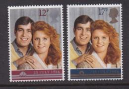 UK, 1986, Mint  Hinged Stamps, Royal Wedding, 1081-1082, #14520 - 1952-.... (Elizabeth II)