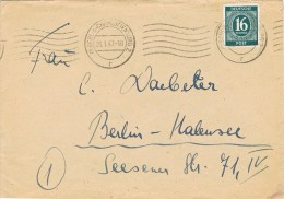 17228. Carta BERLIN Charlottenburg (alemania Ocupation) 1947. Zona A.A.S.  American Bristish And Soviet - Zona Anglo-Américan