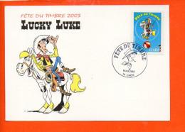 Bandes Dessinées - Lucky Luke - Fête Du Timbre (oblitération) - Bandes Dessinées