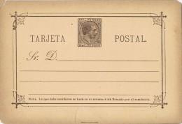 17232. Entero Postal 2 C. Alfonso XII. FILIPINAS Colonia Española, Edifil Num 4 ** - Filippine