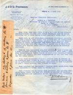 VP3543  - Tabac - Lettre De J.& O.G. PIERSON à PARIS Pour Mr Th. SCHLOESING Directeur Des Manufactures De L´Etat - Documents