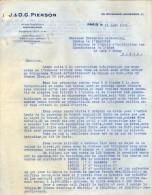 VP3544 - Tabac - Lettre De J.& O.G. PIERSON à PARIS Pour Mr Th. SCHLOESING Directeur Des Manufactures De L´Etat - Documenten