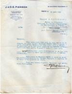 VP3546 - Tabac - Lettre De J.& O.G. PIERSON à PARIS Pour Mr Th. SCHLOESING Directeur Des Manufactures De L´Etat - Documents