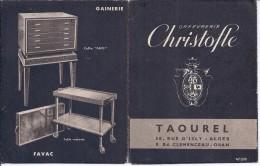 ORFEVRERIE CHRISTOFLE- MAISON TAOUREL A ORAN ET ALGER-RARE DEPLIANT PUB-APERCU - Pubblicitari