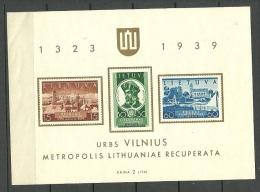 LITAUEN Lithuania 1940 Block 2 MNH - Lithuania