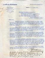 VP3547 - Tabac - Lettre De J.& O.G. PIERSON à PARIS Pour Mr Th. SCHLOESING Directeur Des Manufactures De L´Etat - Documents