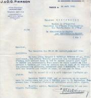 VP3548 - Tabac - Lettre De J.& O.G. PIERSON à PARIS Pour Mr Th. SCHLOESING Directeur Des Manufactures De L´Etat - Documenten