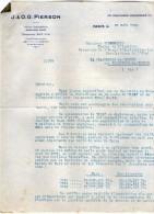 VP3549 - Tabac - Lettre De J.& O.G. PIERSON à PARIS Pour Mr Th. SCHLOESING Directeur Des Manufactures De L´Etat - Documenten