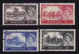 UK, 1955, Cancelled Stamps , British Castles, 278-281, #14444 - 1952-.... (Elizabeth II)