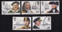 UK, 1982, Cancelled Stamp(s ), Maritime Heritage, 918-922 #14446 - 1952-.... (Elizabeth II)