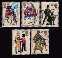 UK, 1983, Cancelled Stamp(s ), British Army Uniforms, 956-960, #14451 - Used Stamps