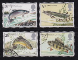 UK, 1983, Cancelled Stamp(s ), British River Fishes, 938-941, #14449 - Used Stamps
