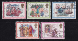 UK, 1983, Cancelled Stamp(s ), Christmas, 933-937, #14448 - Used Stamps