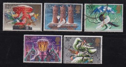 UK, 1983, Cancelled Stamp(s ), Christmas, 970-974 #14454 - Used Stamps