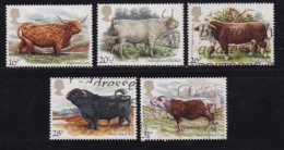 UK, 1984, Cancelled Stamp(s ), British Cattle, 979-983 #14456 - Used Stamps
