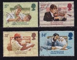 UK, 1984, Cancelled Stamp(s ), British Council,1008-1011, #14461 - 1952-.... (Elizabeth II)