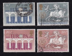 UK, 1984, Cancelled Stamp(s ), EUROPA Elections, 988-991 #14457 - Used Stamps