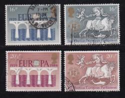 UK, 1984, Cancelled Stamp(s ), EUROPA Elections, 988-991 #14457 - 1952-.... (Elizabeth II)