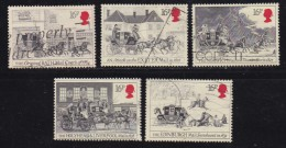 UK, 1984, Cancelled Stamp(s ), First Mailcoach Run, 997-1001, #14460 - Used Stamps