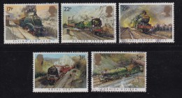 UK, 1985, Cancelled Stamp(s ), Famous Trains, 1017-1022, #14463 - Used Stamps