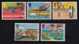 UK, 1986, Cancelled Stamp(s ), Commonwealth Games, 1076-1080, #14471 - 1952-.... (Elizabeth II)