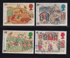 UK, 1986, Cancelled Stamp(s ), Domesday Book, 1072-1075, #14470 - Used Stamps