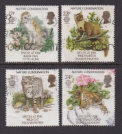 UK, 1986, Cancelled Stamp(s ), EUROPA Nature Conservation, 1068-1071, #14469 - Used Stamps