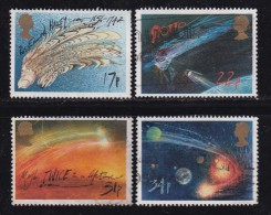 UK, 1986, Cancelled Stamp(s ), Halley's Comet, 1060-1063, #14467 - Used Stamps