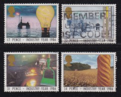 UK, 1986, Cancelled Stamp(s ), Industry Year, 1056-1059, #14466 - Used Stamps