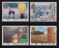 UK, 1986, Cancelled Stamp(s ), Industry Year, 1056-1059, #14466 - 1952-.... (Elizabeth II)