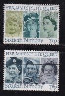 UK, 1986, Cancelled Stamp(s ), QE II 60th Birthday, 1064-1065, #14468 - Used Stamps