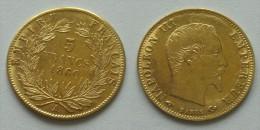 Pièce De 5 Francs OR NAPOLEON III De 1860 A MAIN - J. 5 Francs